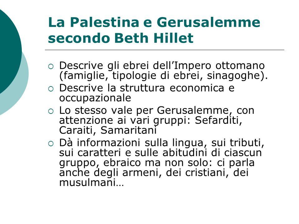 La Palestina e Gerusalemme secondo Beth Hillet