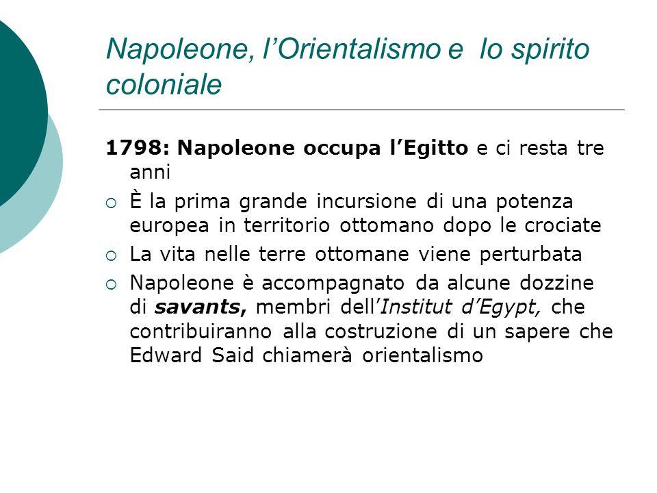 Napoleone, l'Orientalismo e lo spirito coloniale