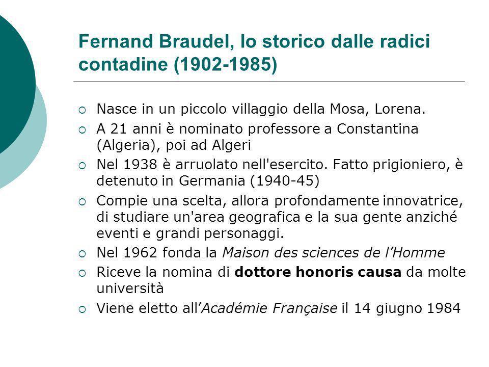 Fernand Braudel, lo storico dalle radici contadine (1902-1985)