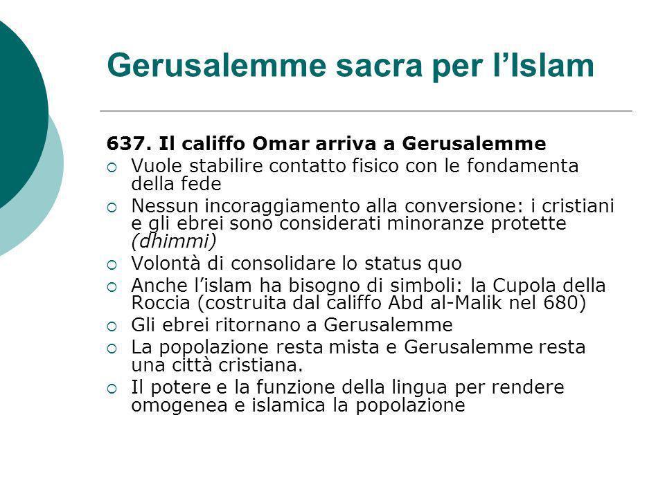 Gerusalemme sacra per l'Islam