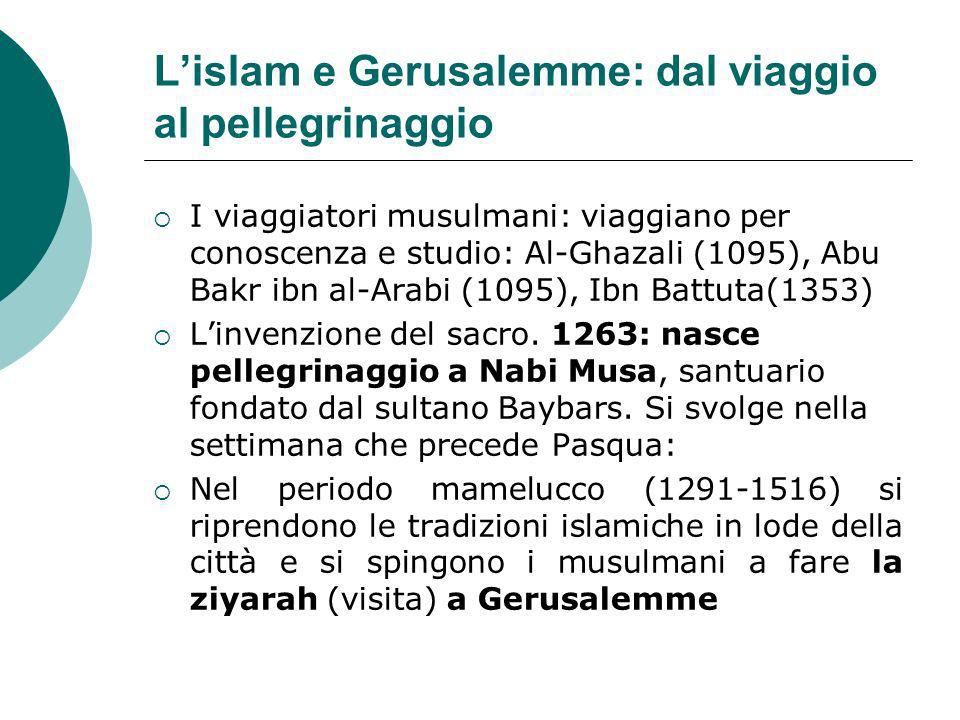 L'islam e Gerusalemme: dal viaggio al pellegrinaggio