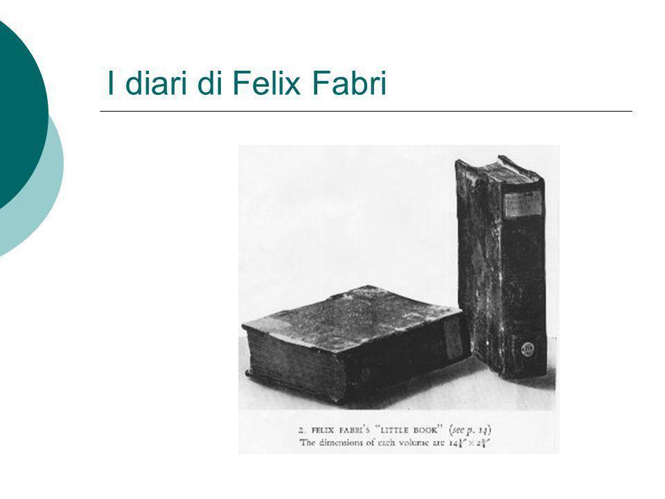 I diari di Felix Fabri