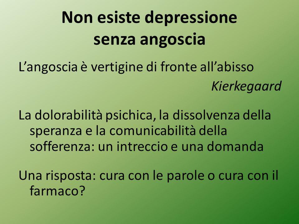 Non esiste depressione senza angoscia