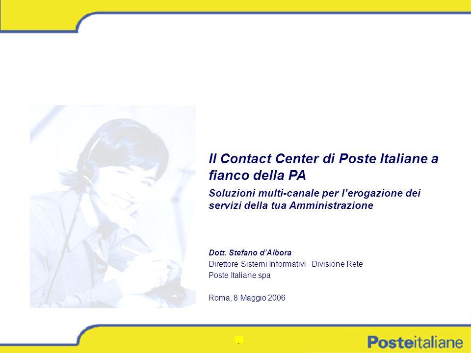 Il Contact Center di Poste Italiane a fianco della PA
