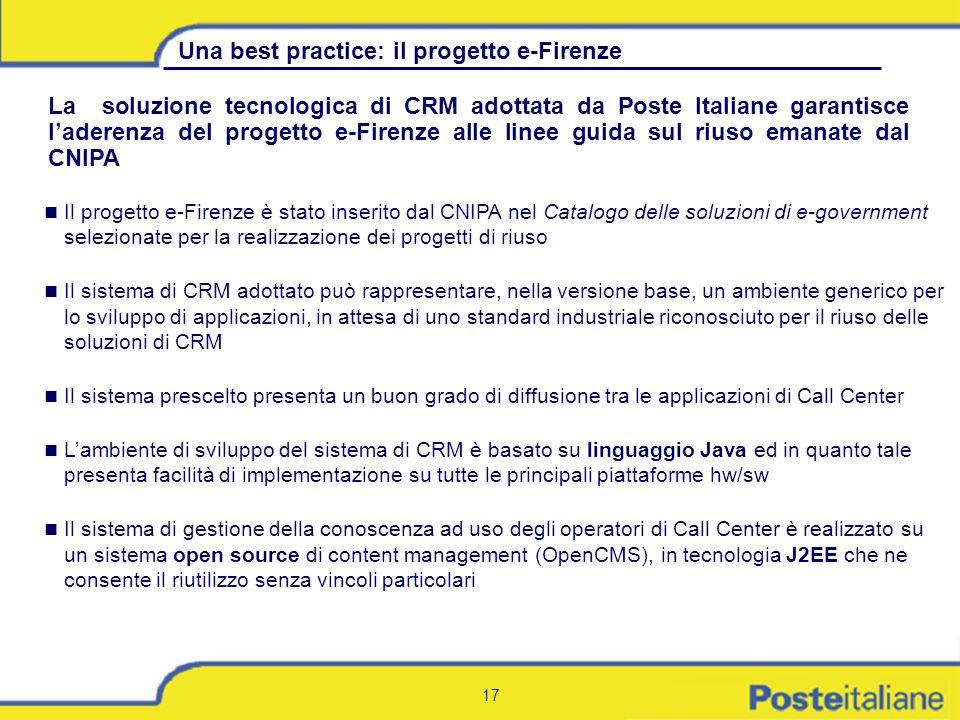 Una best practice: il progetto e-Firenze