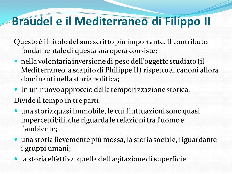 Braudel e il Mediterraneo di Filippo II