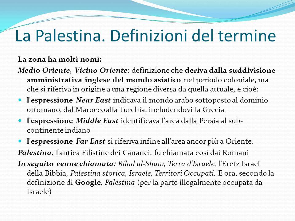 La Palestina. Definizioni del termine