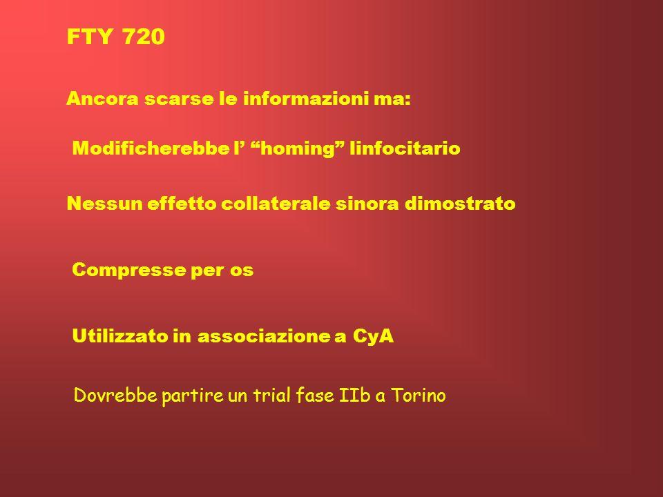 FTY 720 Ancora scarse le informazioni ma: