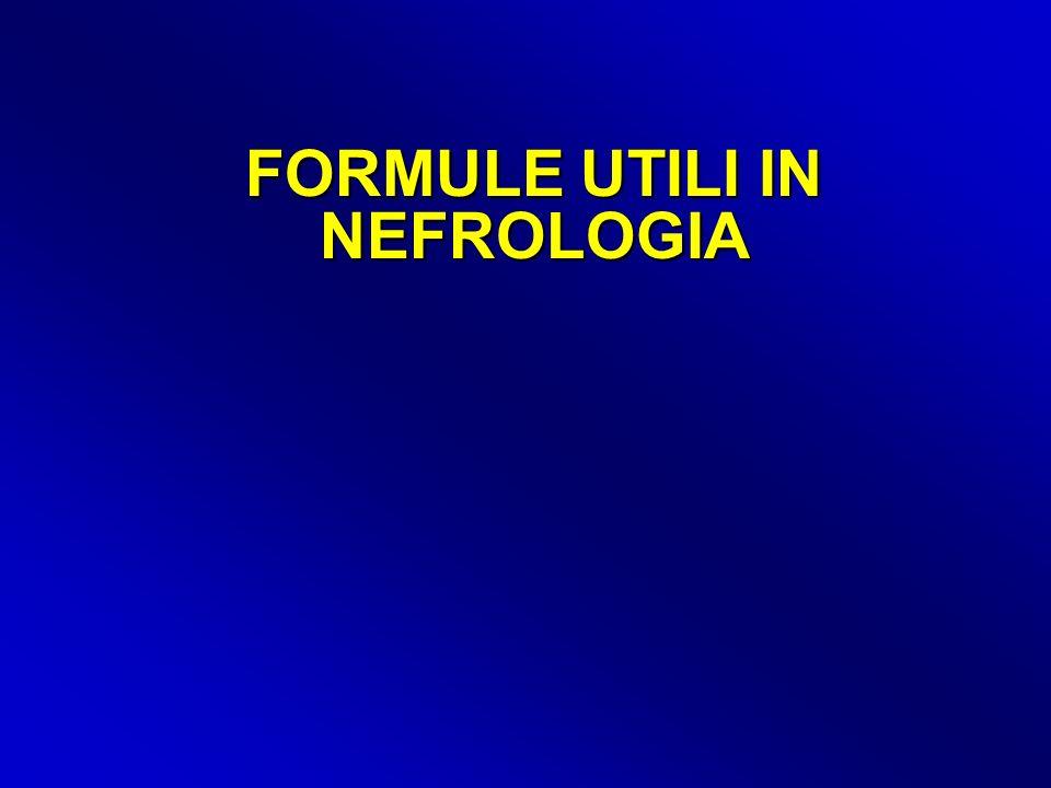FORMULE UTILI IN NEFROLOGIA