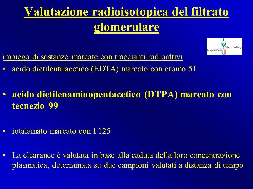 Valutazione radioisotopica del filtrato glomerulare