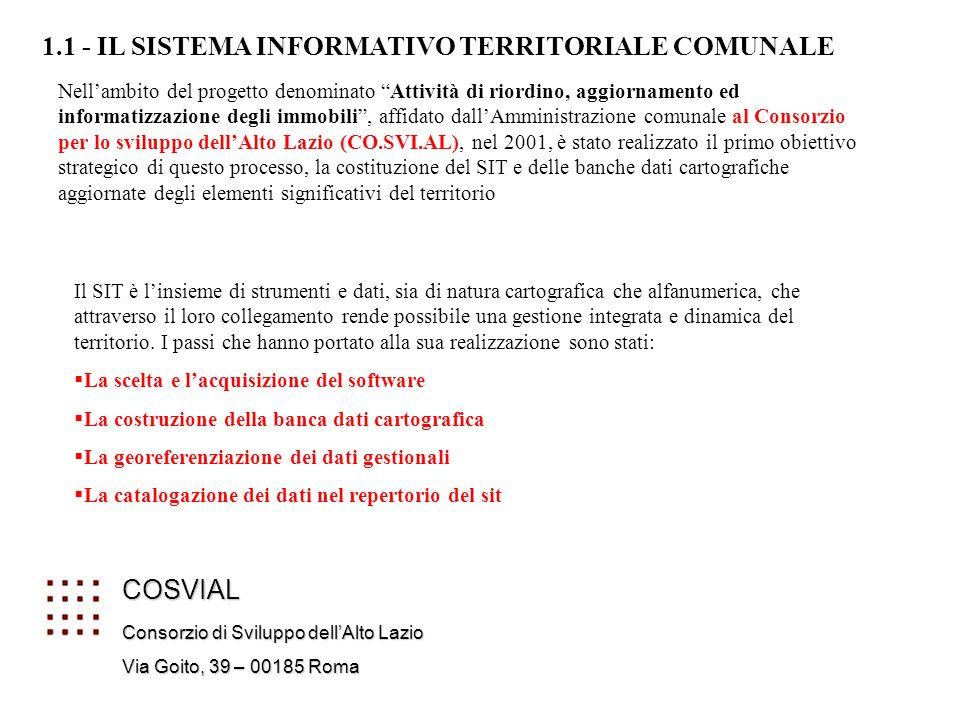 1.1 - IL SISTEMA INFORMATIVO TERRITORIALE COMUNALE