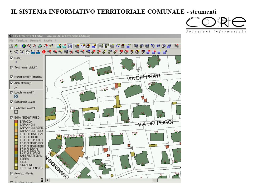 IL SISTEMA INFORMATIVO TERRITORIALE COMUNALE - strumenti