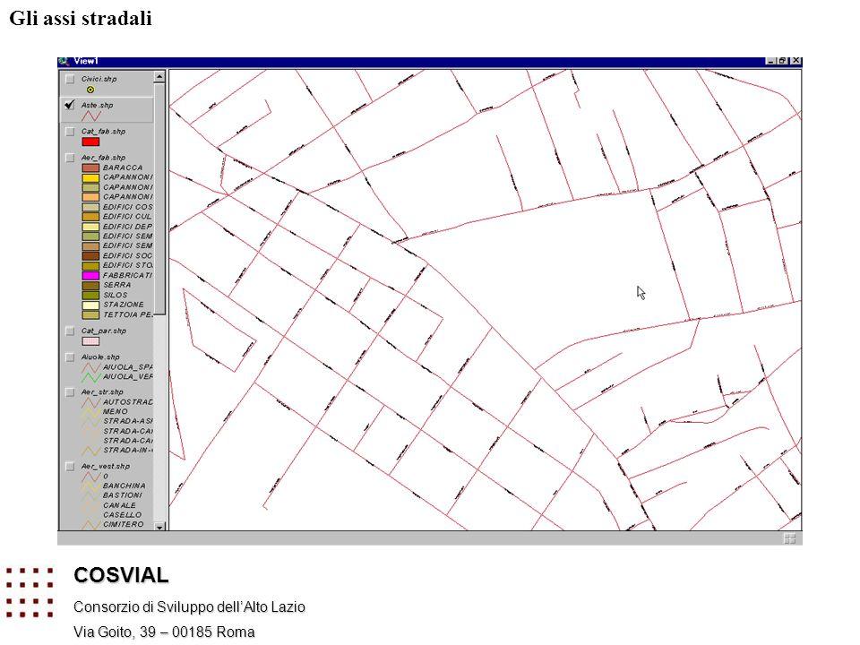 Gli assi stradali COSVIAL Consorzio di Sviluppo dell'Alto Lazio