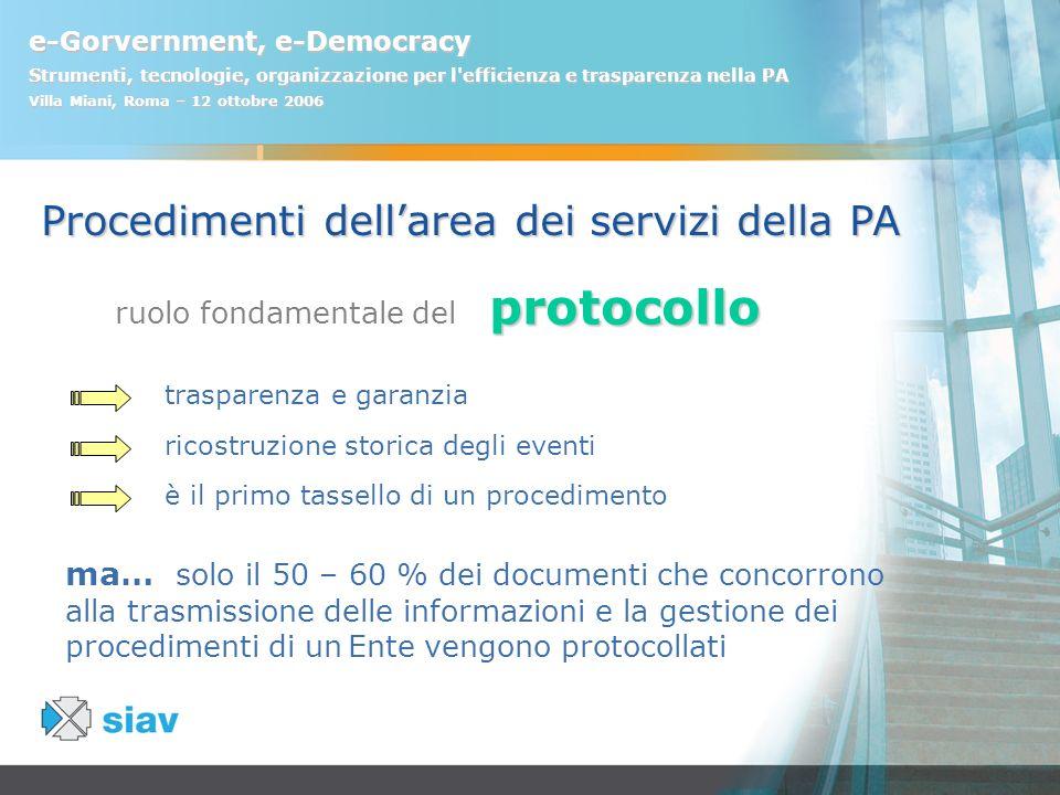 ruolo fondamentale del protocollo