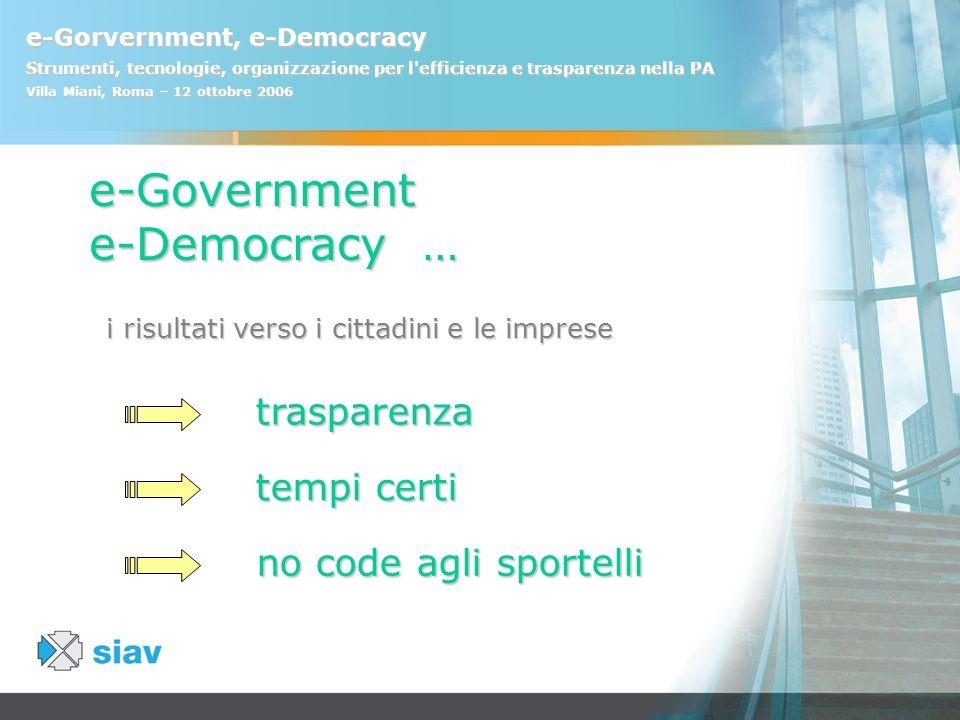 i risultati verso i cittadini e le imprese