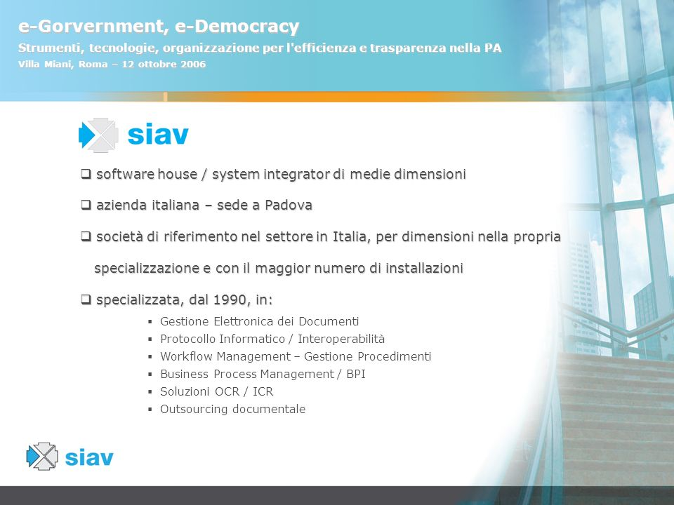 software house / system integrator di medie dimensioni