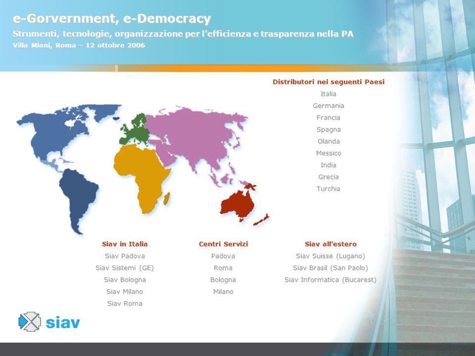 Distributori nei seguenti Paesi