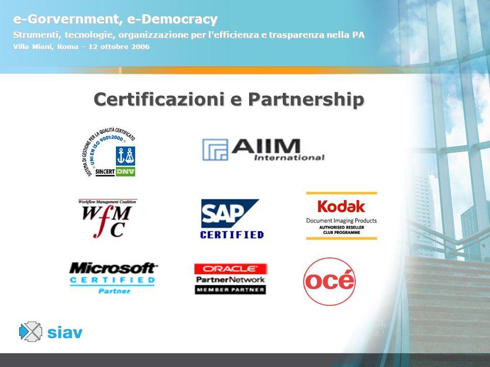 Certificazioni e Partnership