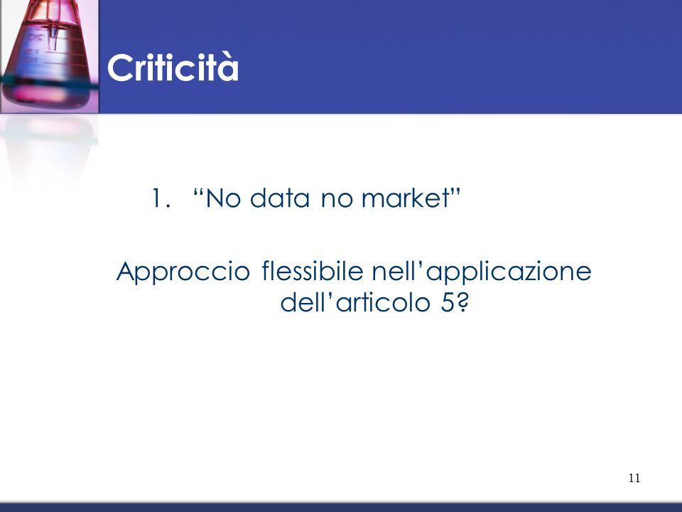 Approccio flessibile nell'applicazione dell'articolo 5