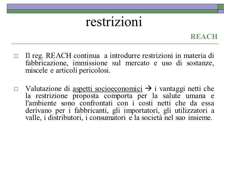 restrizioni REACH.
