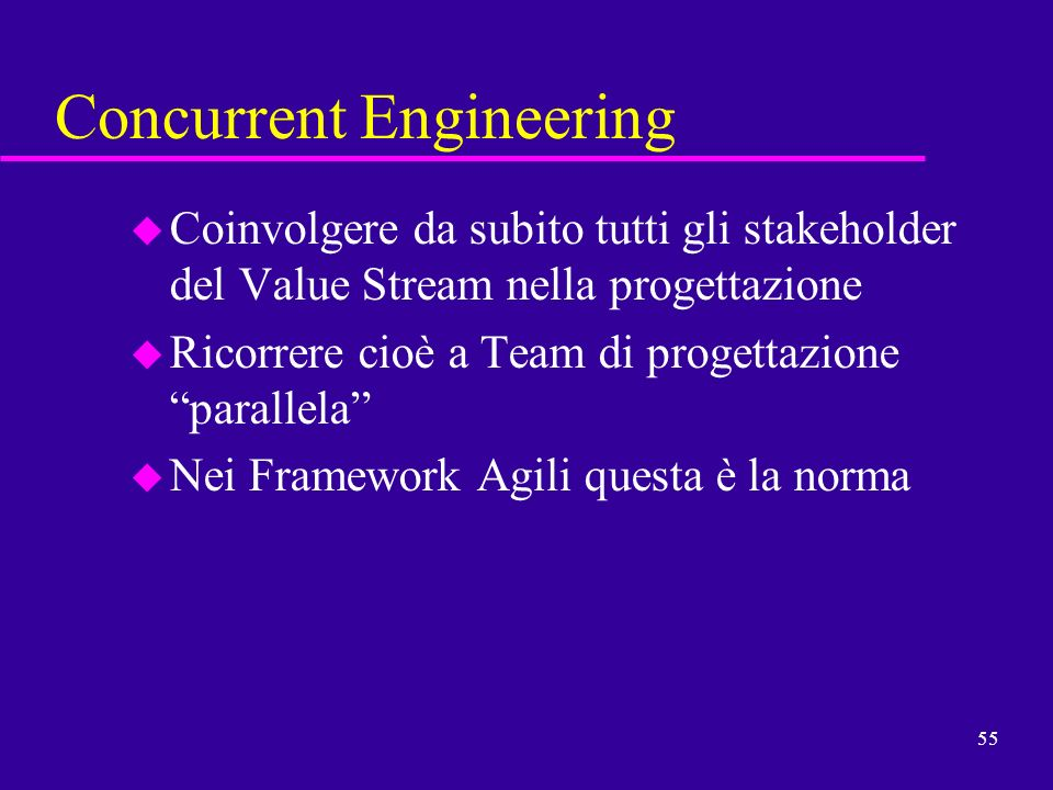 Concurrent Engineering Team : Il reengineering snello ppt scaricare