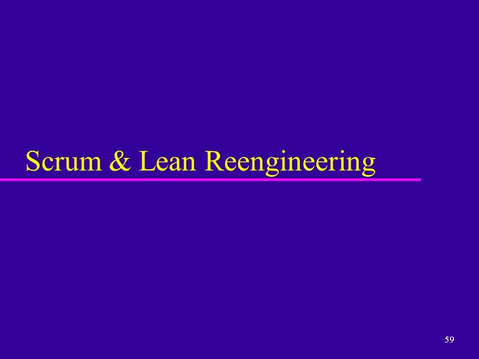 Scrum & Lean Reengineering