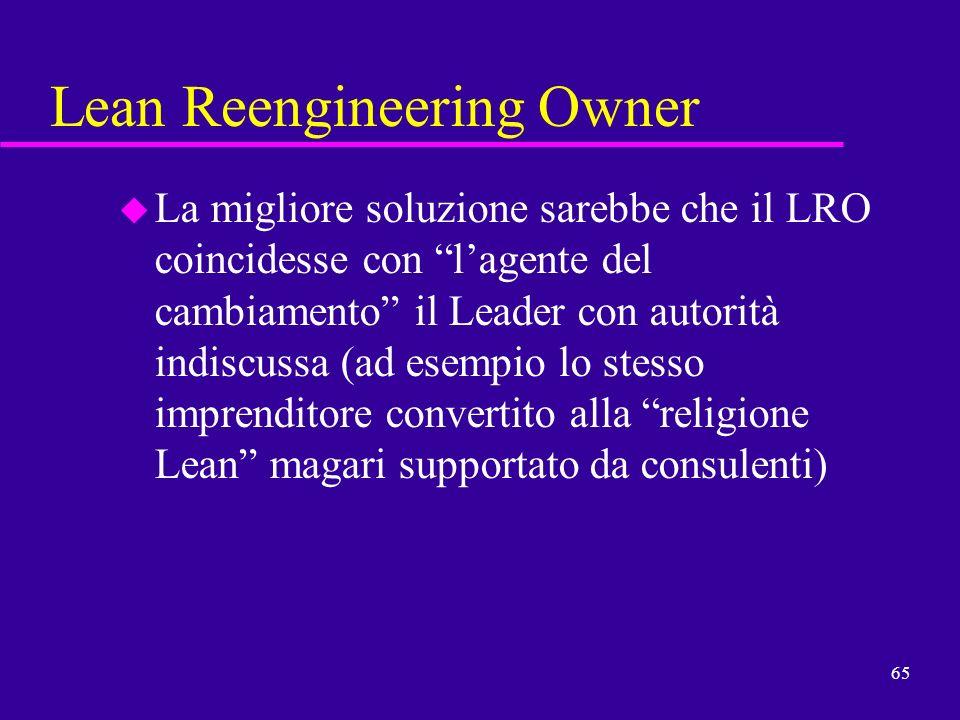 Lean Reengineering Owner