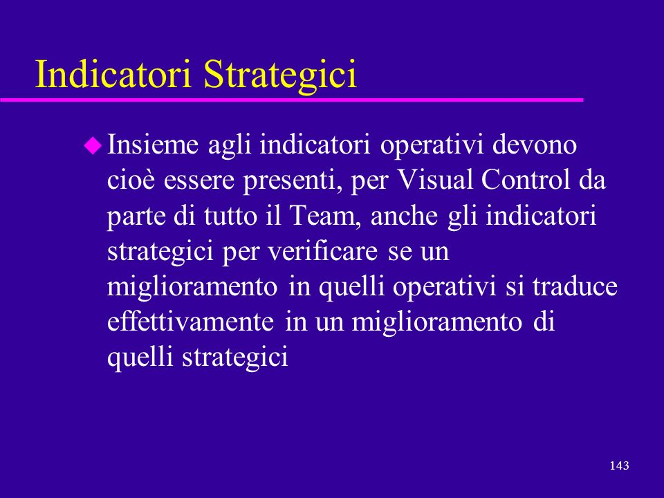 Indicatori Strategici