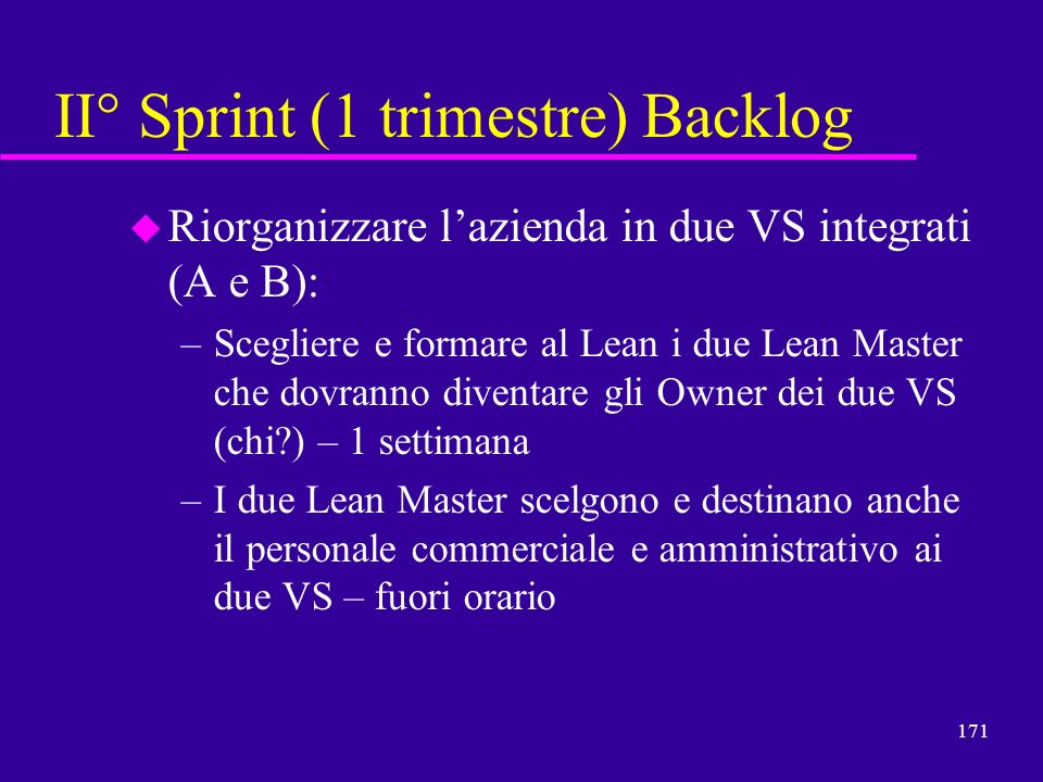 II° Sprint (1 trimestre) Backlog