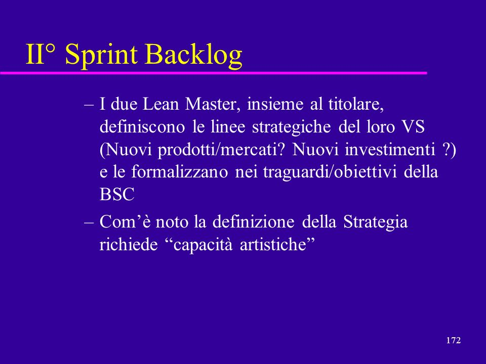 II° Sprint Backlog