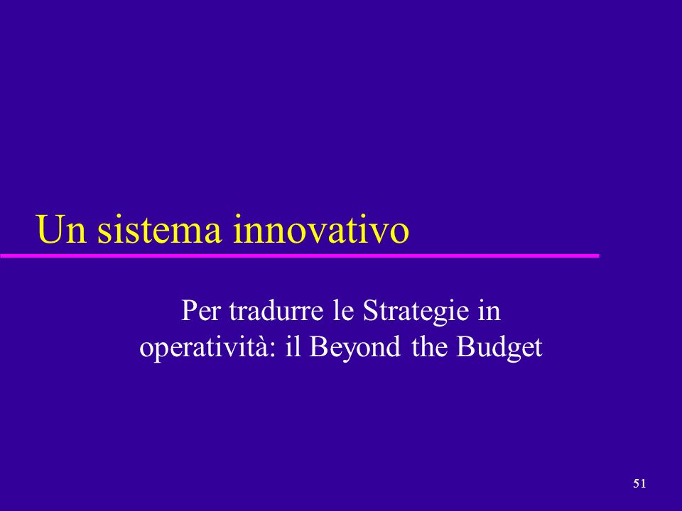 Per tradurre le Strategie in operatività: il Beyond the Budget