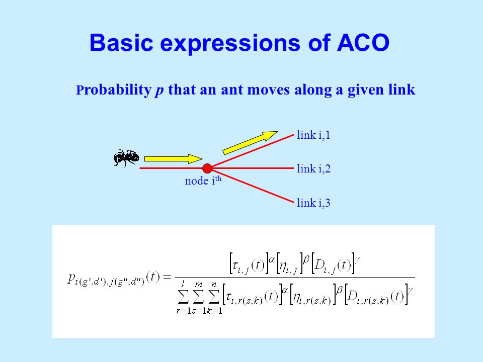 Basic expressions of ACO