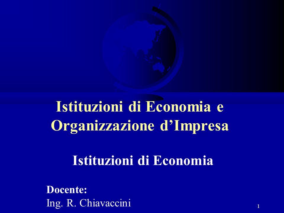 Istituzioni di Economia e Organizzazione d'Impresa
