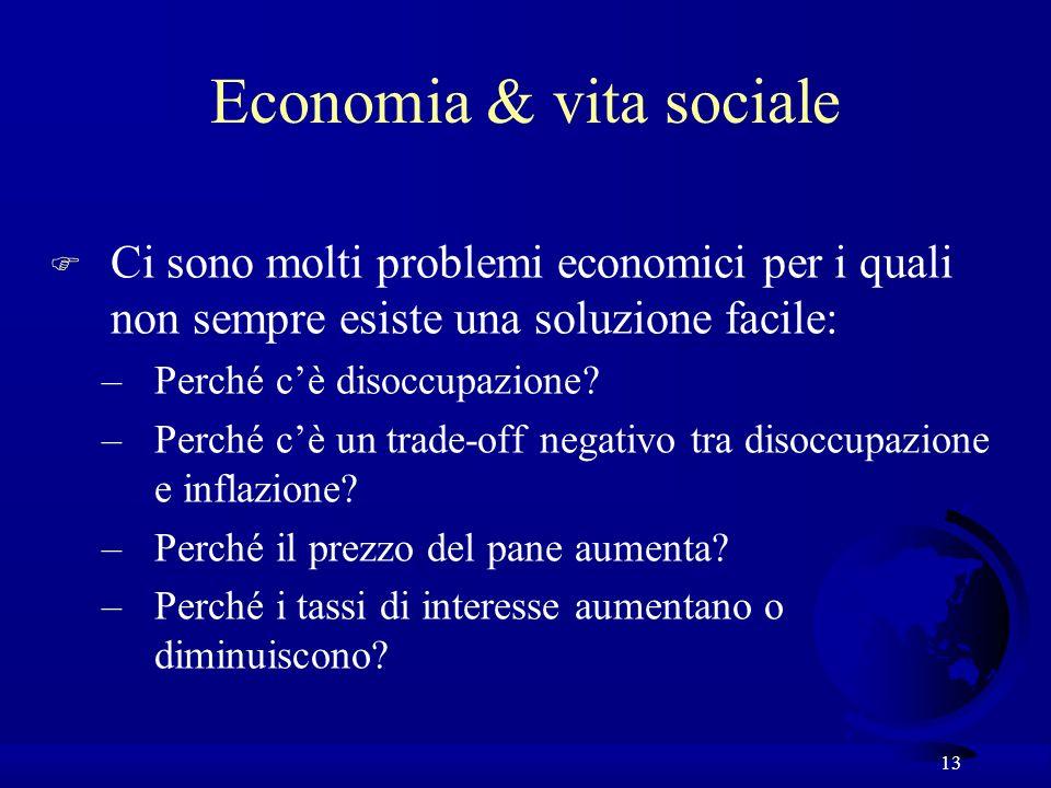 Economia & vita sociale