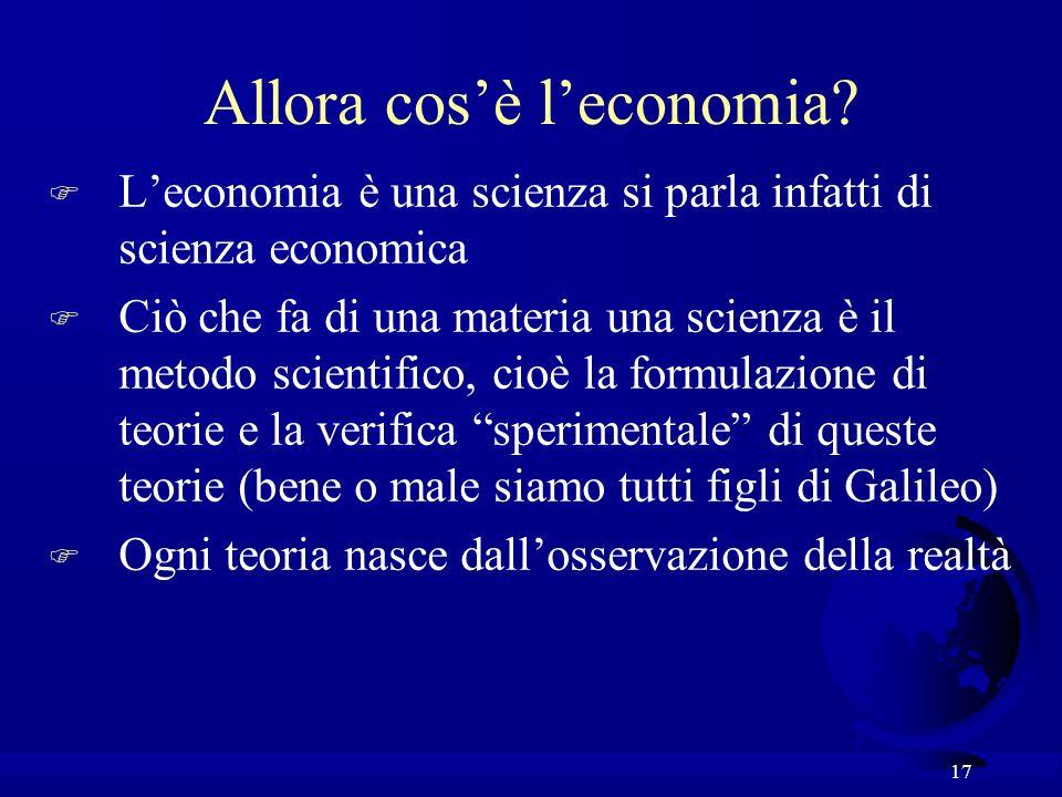 Allora cos'è l'economia