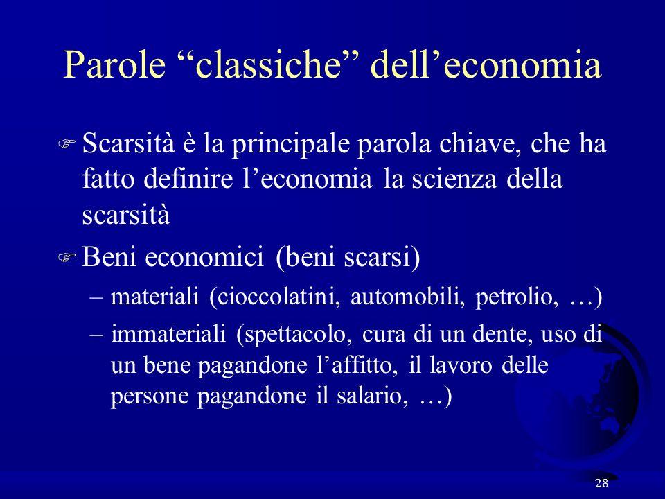 Parole classiche dell'economia