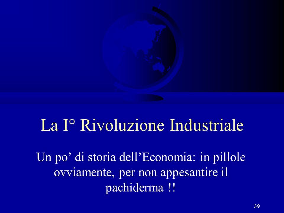 La I° Rivoluzione Industriale