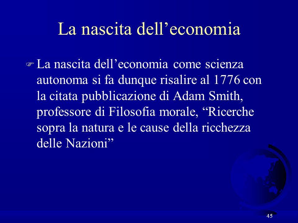 La nascita dell'economia