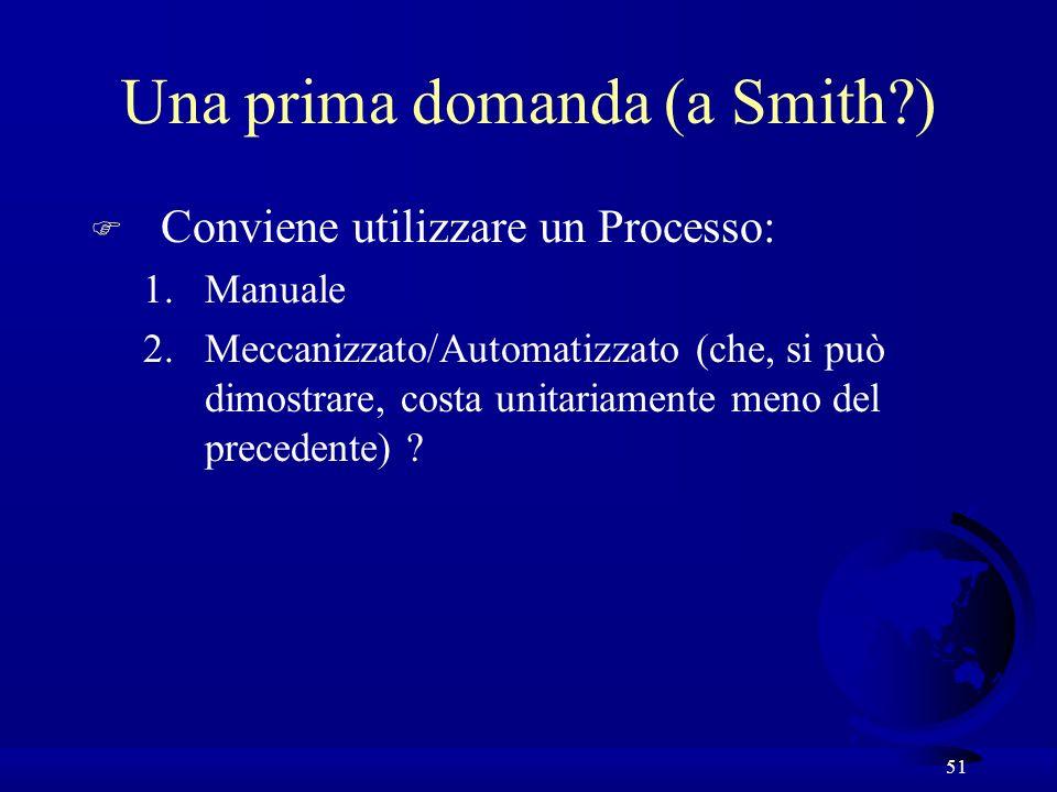 Una prima domanda (a Smith )