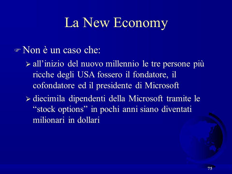 La New Economy Non è un caso che:
