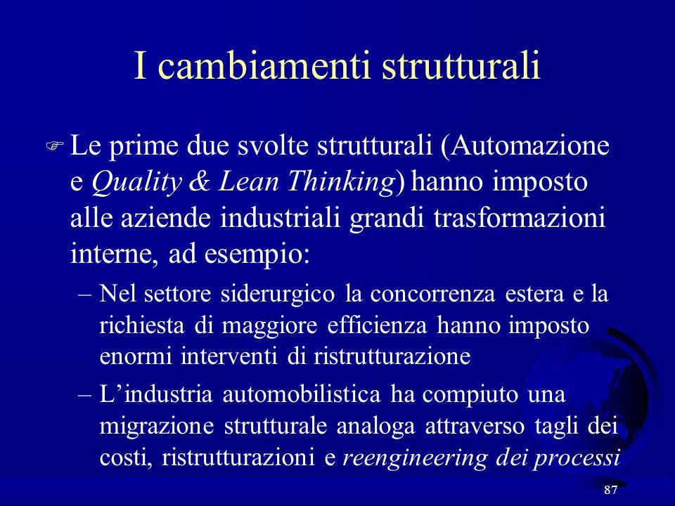 I cambiamenti strutturali