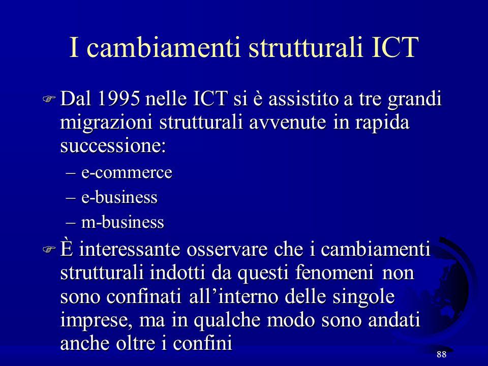 I cambiamenti strutturali ICT