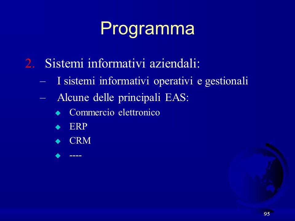Programma Sistemi informativi aziendali: