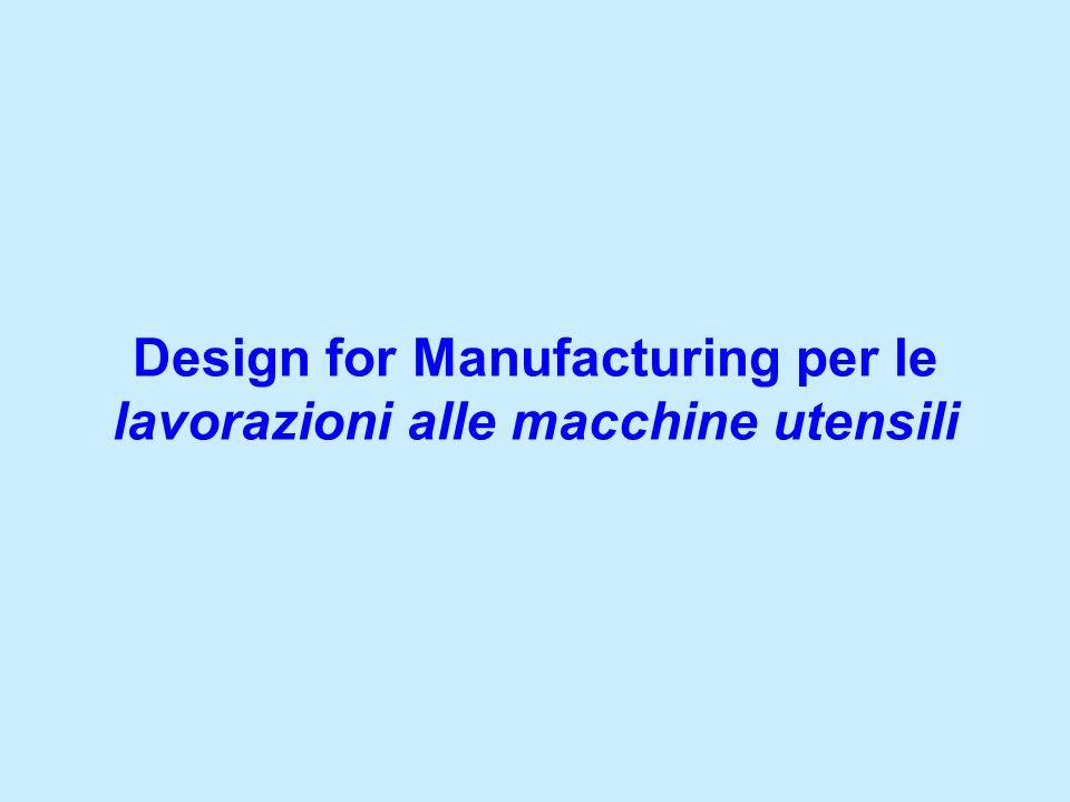 Design for Manufacturing per le lavorazioni alle macchine utensili