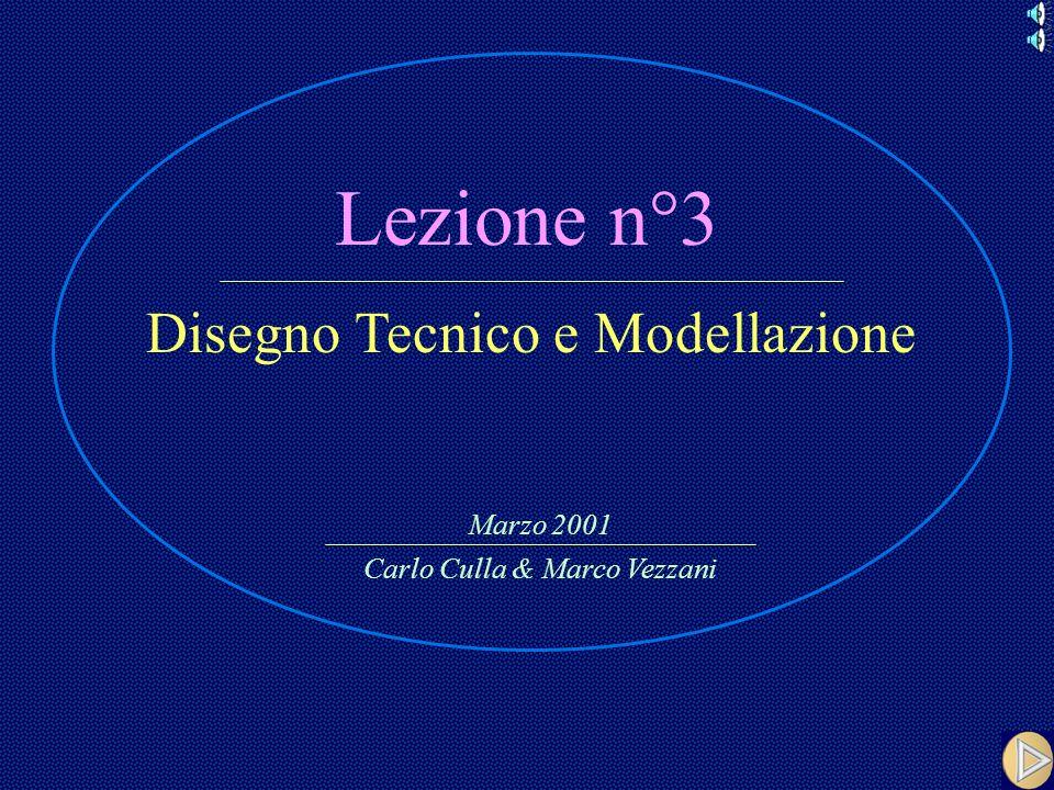 Lezione n°3 Disegno Tecnico e Modellazione Marzo 2001