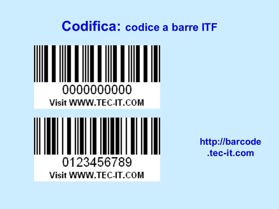Codifica: codice a barre ITF