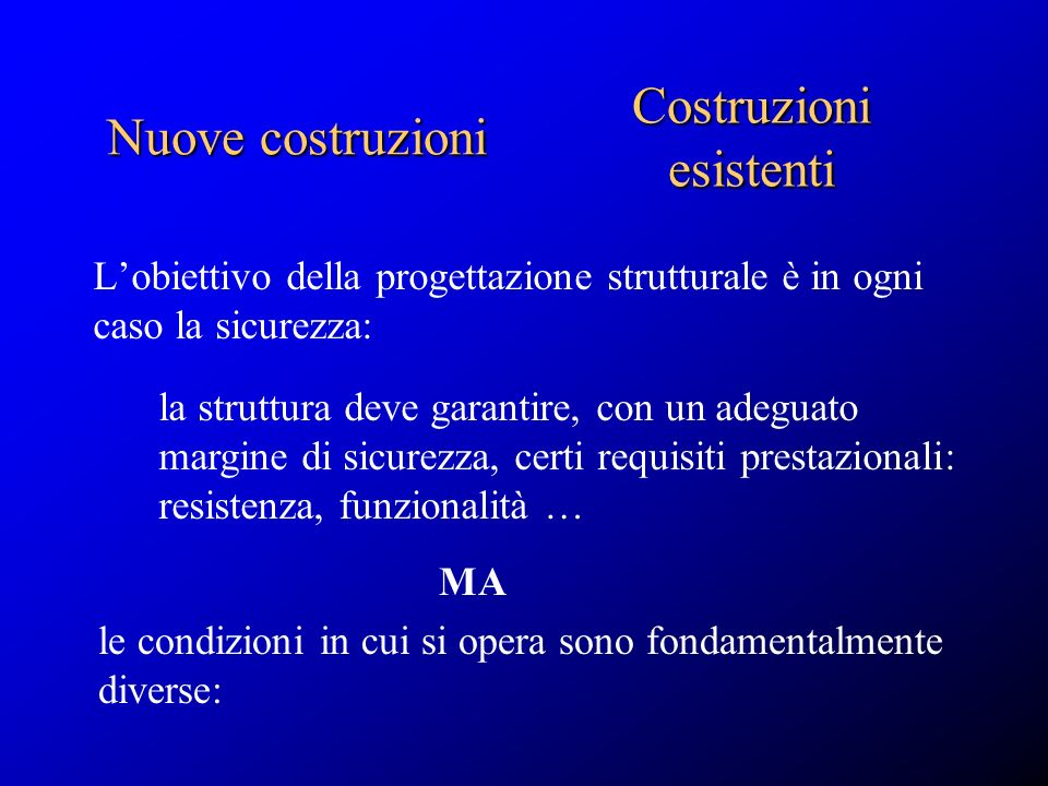 Costruzioni esistenti