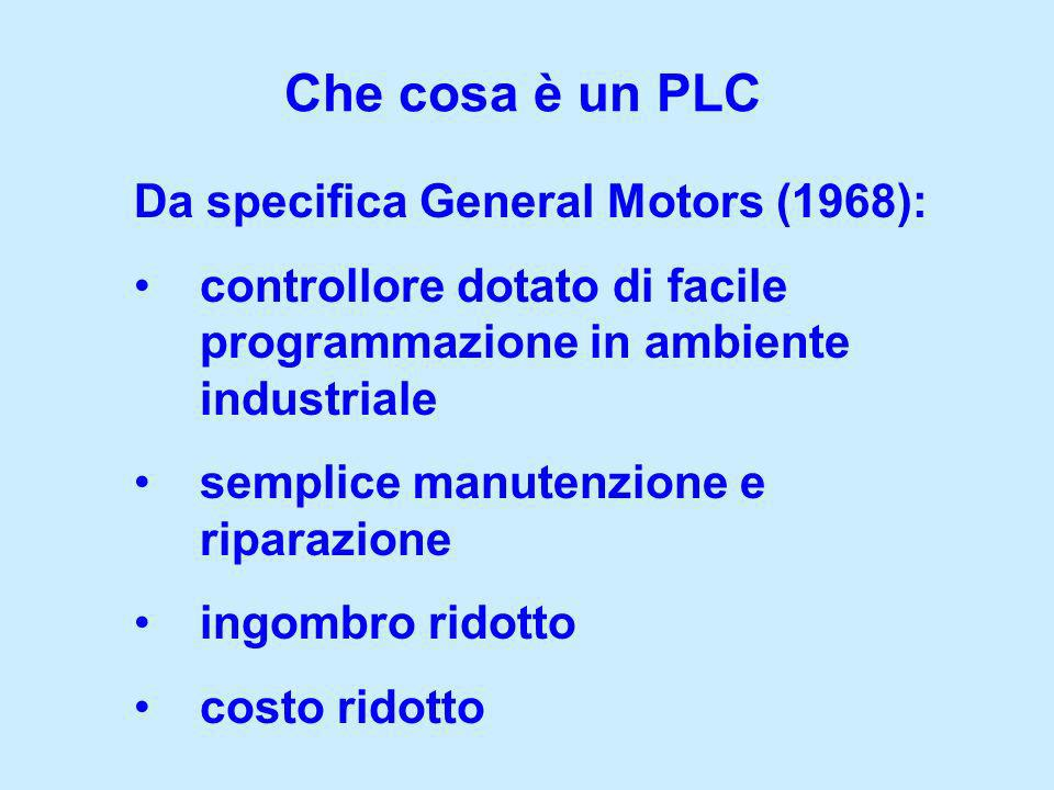 Che cosa è un PLC Da specifica General Motors (1968):