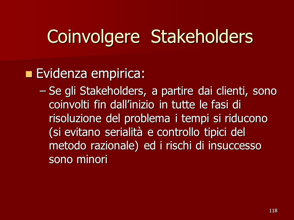 Coinvolgere Stakeholders