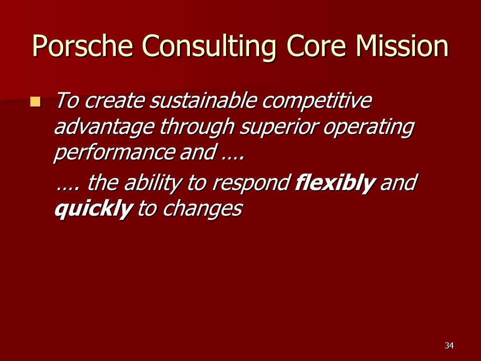 Porsche Consulting Core Mission